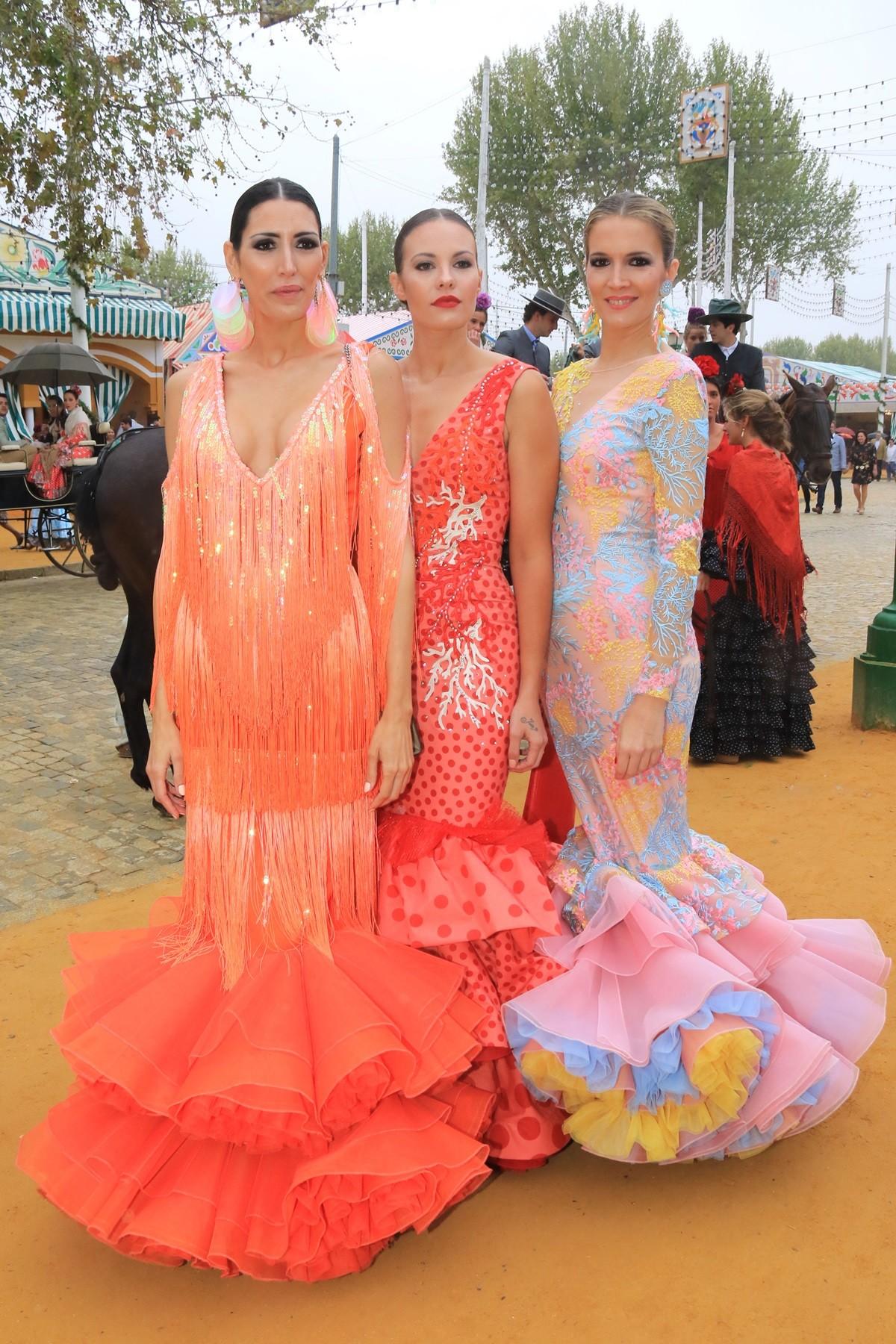 67150147c Las famosas ya lucen el traje de flamenca en la Feria de Abril, con ...