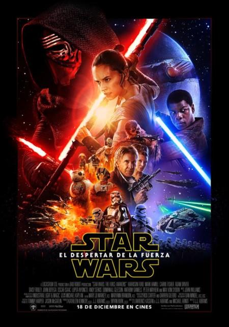 El cartel español de Star Wars VII