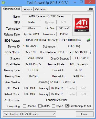 AMD 7990 GPUz