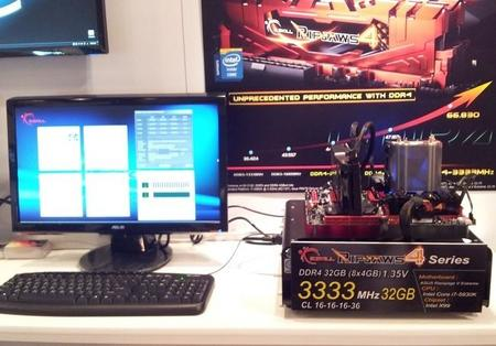 G.Skill rompe barreras en DDR4 con el primer kit Ripjaws 4 de 3333 MHz