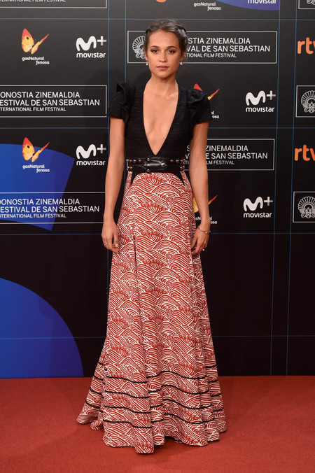 festival de cine de san sebastian alfombra roja Alicia vikander