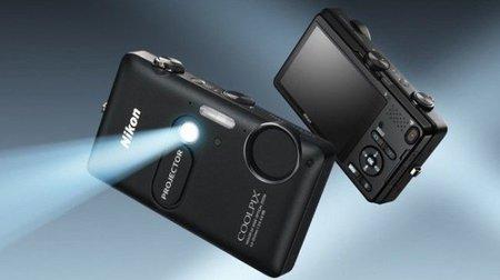 Nikon Coolpix s1200pj cámara con proyector