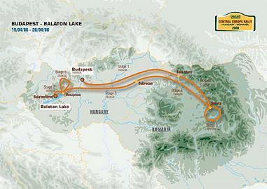CentralEurpoean Rally, Dakar Series 2008 course
