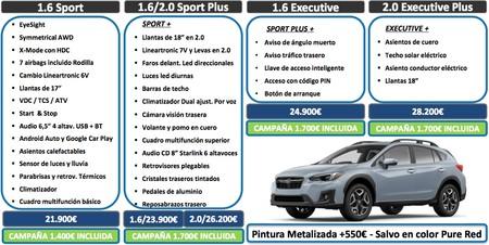 Subaru XV 2018 equipamiento
