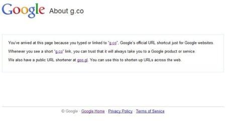 Google usará un acortador de direcciones sólo para sus sitios: g.co