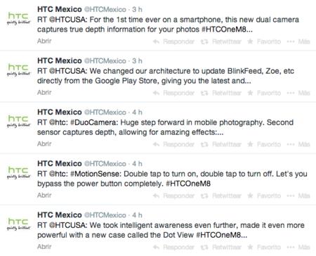 HTC México Twitter