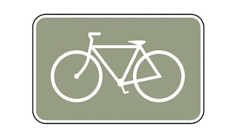 Señal ciclos y peatones, test carnet de conducir B