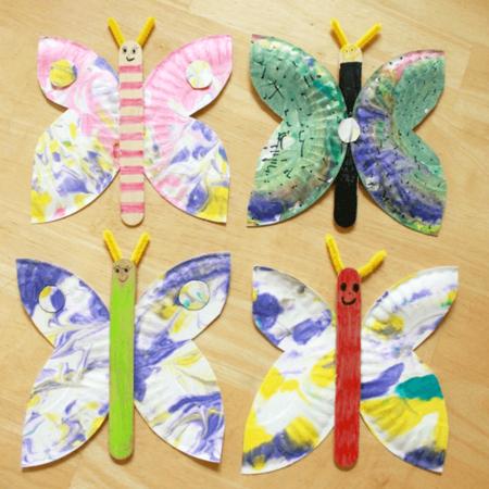 Manualidades Primavera Mariposa Plato