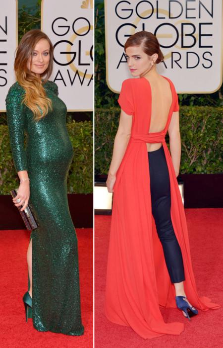 Olivia Wilde Emma Watson Globos de Oro 2014