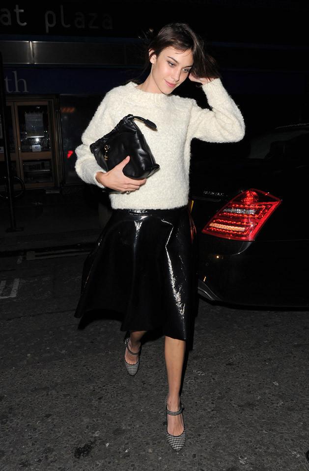 Look Alexa Chung Londres Semana Moda
