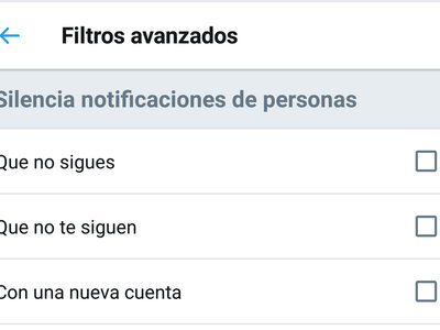 Cómo silenciar las notificaciones de ciertos tipos de cuentas en Twitter para Android