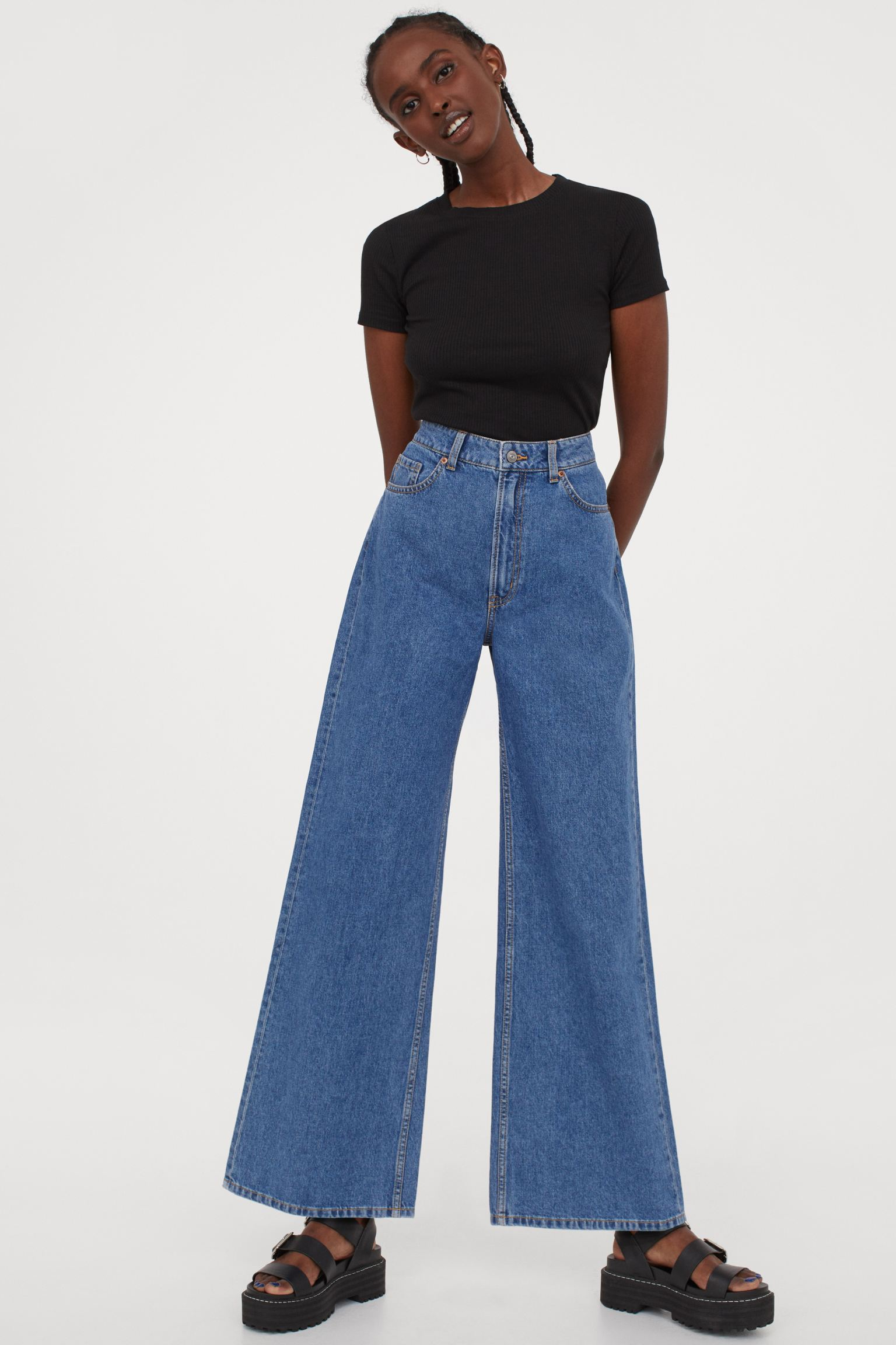 Wide High Jeans