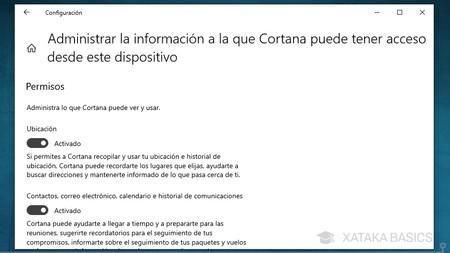 Permisos Cortana