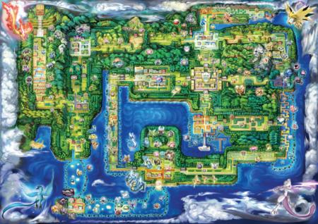 Arte conceptual del mapa de Kanto.