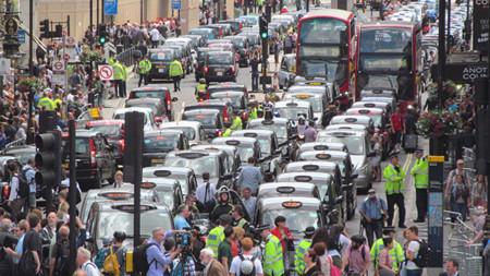 Protesta Uber