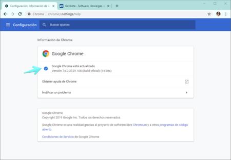 Configuracion Informacion De Chrome