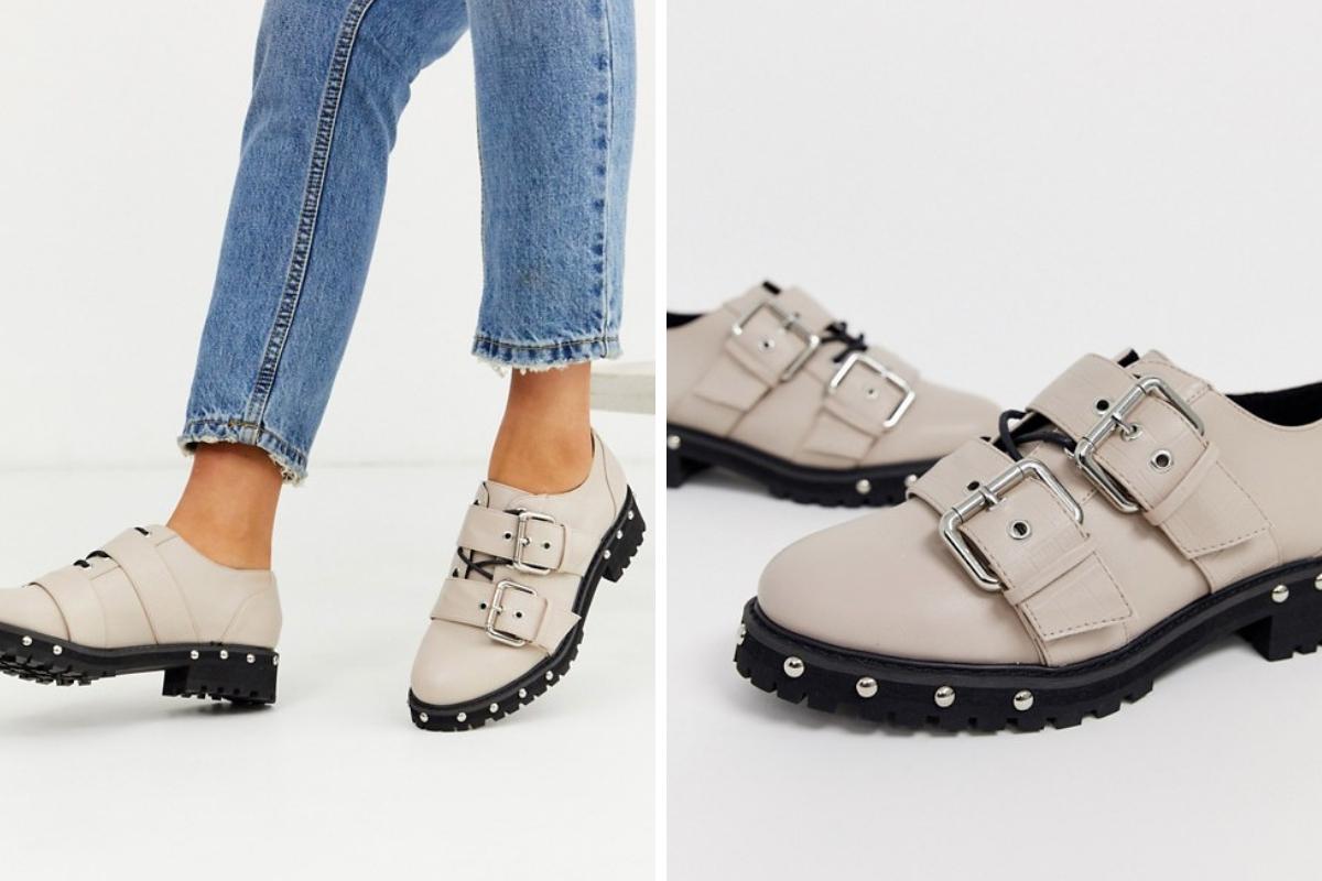 Zapatos chunky con hebillas