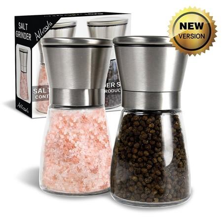 Oferta flash en el set de dos molinillos para pimienta y sal Allezola: cuestan 10,99 euros en Amazon hasta medianoche