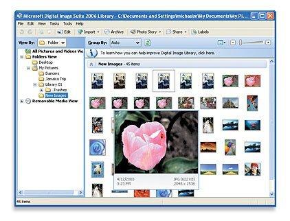 Digital Image Suite 2006, Microsoft se apunta al soporte fotográfico profesional