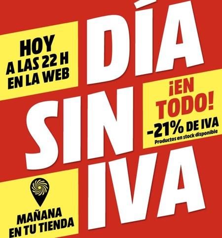 Vuelve el Día Sin IVA a MediaMarkt: las 29 mejores ofertas en portátiles, televisores y smartphones