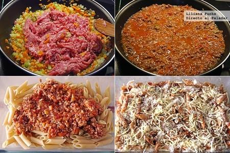Macarrones al horno con rag de cerdo receta de pasta - Macarrones con verduras al horno ...