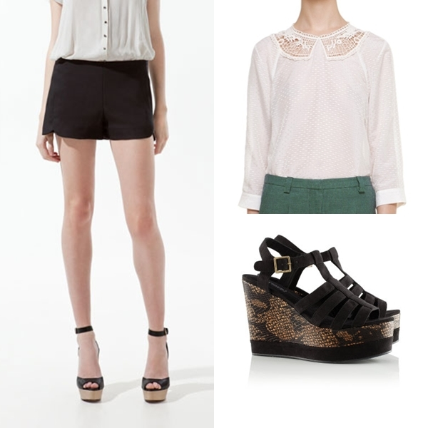 blanco y negro shorts2