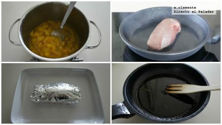 Magret de pato con chutney de mango