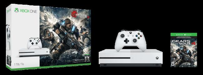 Pack consola Xbox One S de 1TB + Gears Of War 4 por 280,71 euros y envío gratis