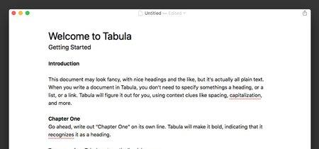 Tabula, el editor que plantea formatear el texto sin esfuerzo alguno