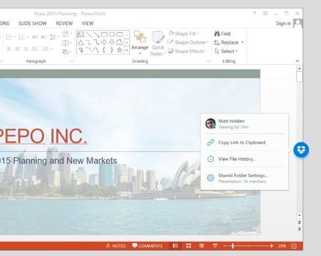 Dropbox habilita la colaboración en tiempo real mediante Microsoft Office en sus cuentas Business