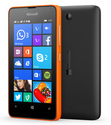 Lumia 430 Orange Black
