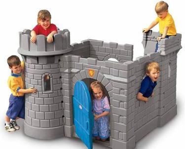 Nada de cabañas: ¡a jugar en un castillo!