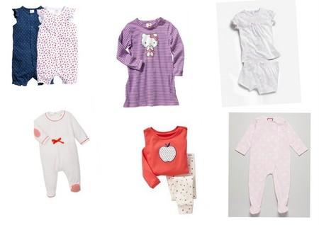 pijamas para bebé y niña