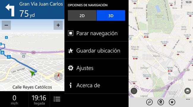 Navegación Nokia