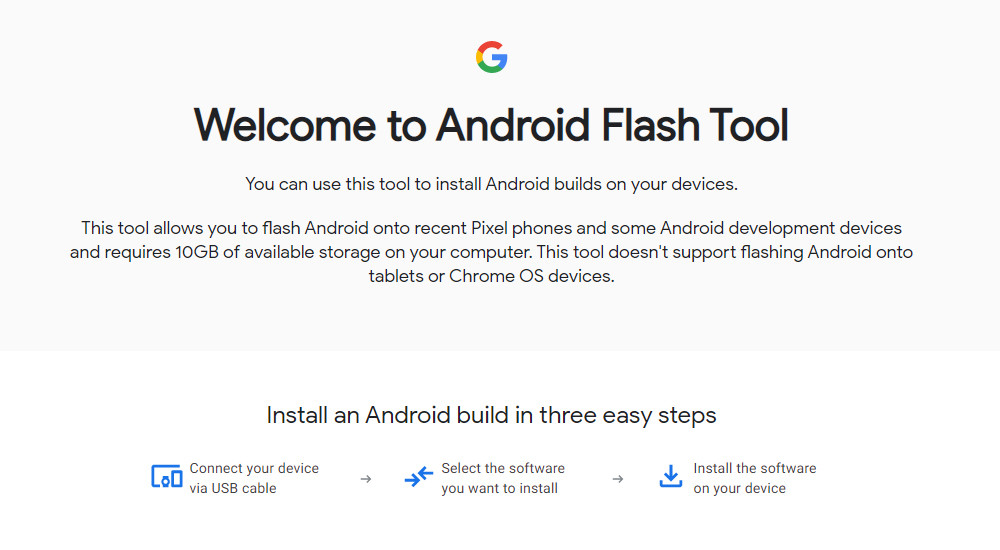Google launches Android Flash Tool: a tool to update the Pixel with ROMS AOSP