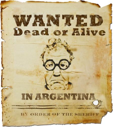 ¡Cuidado, Jeremy Clarkson! Argentina te busca de nuevo y podrías acabar en la cárcel, o eso dicen
