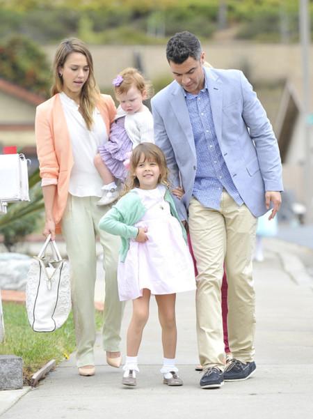 Familia pastel Jessica Alba