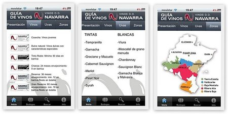 Los vinos con D.O. Navarra en el iPhone
