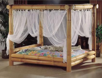 Aitutaki bed, dormir entre bambú