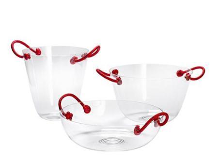 Bowls de vidrio y cuerdas