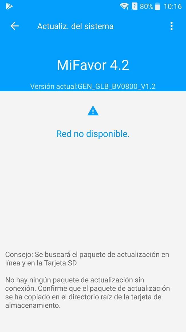 Red no disponible