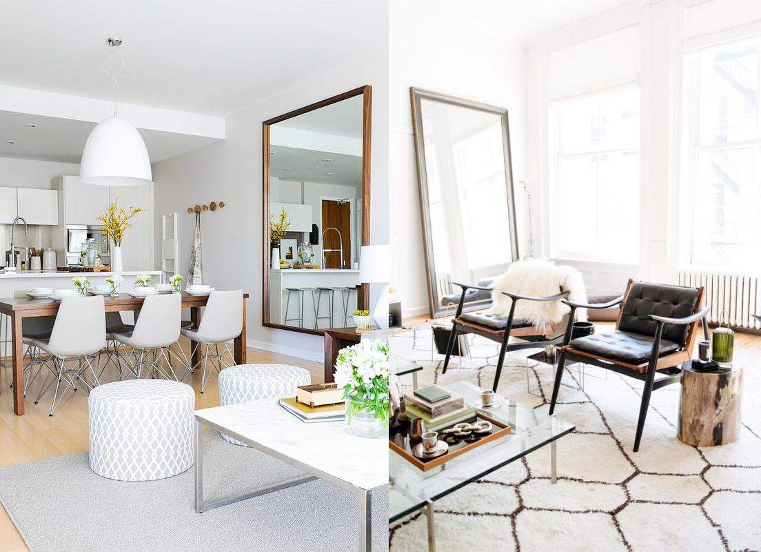 17 ideas de c mo colocar un espejo en el sal n de tu casa for Espejo horizontal salon
