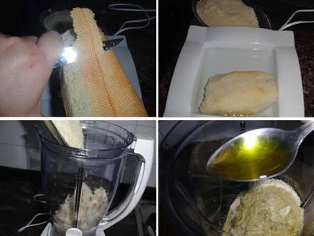 Preparación del Ajo Blanco