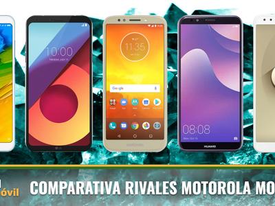 Comparativa Motorola Moto E5 frente móviles baratos como Xiaomi RedMi 5, Huawei Y7 2018 o bq Aquaris U2