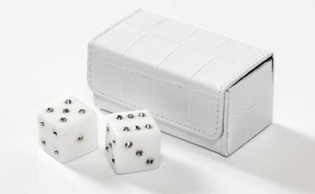 Dados con cristales Swarovski para tus veladas en el casino