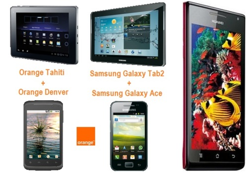 Precios Huawei Ascend P1 y nuevos packs smatphone + tablet con Orange