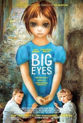 'Big Eyes' de Tim Burton, cartel