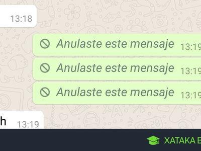 Cómo borrar mensajes enviados en WhatsApp de todos los móviles que lo han recibido
