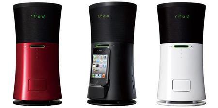 NX-SA5,  dock para smartphones y lector de CD que también es purificador de aire