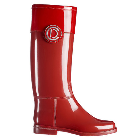 Botas de lluvia rojas de Dior